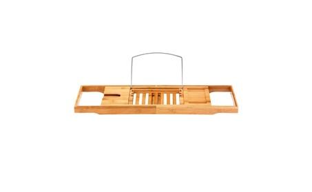 New Bathtub Rack Caddy Bamboo Shelf Shower Book Tray Expandable Holder 0e5ece7f-a5dc-4af7-99d5-ce51c9de1c8c