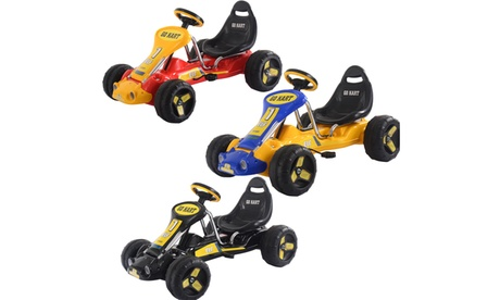 Costway Go Kart Kids Ride On Car Pedal Powered Car 4 Wheel Racer Toy Stealth