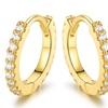 18K Gold Plated Swarovski Elements Hoop Earrings