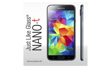 Samsung Galaxy S5 Just like Glass® NANO-t Screen Protector