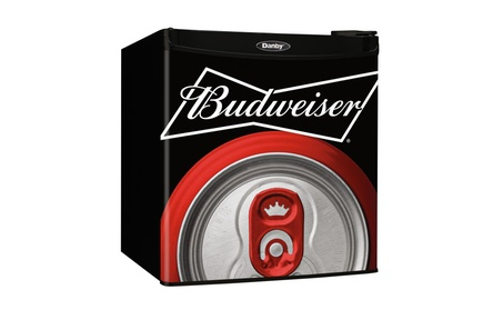 Danby 1.6 cu. ft Mini Fridge with Budweiser Logo photo