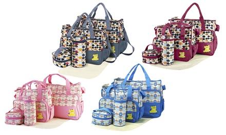 iMounTEK Baby Nappy Travel Bag Tote Set (5-Piece)