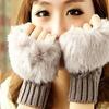 Women's Fingerless Faux-Fur Fashion Gloves