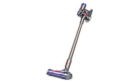 dyson v8 animal cord free vacuum iron titanium new groupon. Black Bedroom Furniture Sets. Home Design Ideas