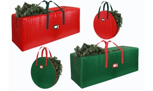 Water-Resistant Christmas Tree , Wreath, & Holiday Decor Storage Bags