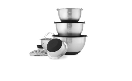 Wolfgang Puck Stainless-Steel Mixing Bowls with Lids, XL 12-Piece Set e1da0495-20a5-4a34-8f02-421d0306952a