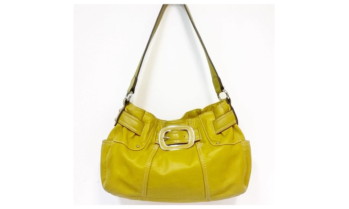 Clark Mustard Yellow Leather Shoulder Bag