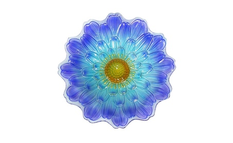 Alpine KPP288T-18 18 in. Blue Flower Birdbath Pack of 3 bcee85da-1edc-4938-a240-ea2fb13314c7