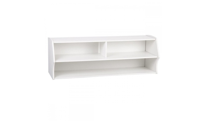 Discounts R Us: Wall Mounted Audio / Video Console TV Stand White Finish