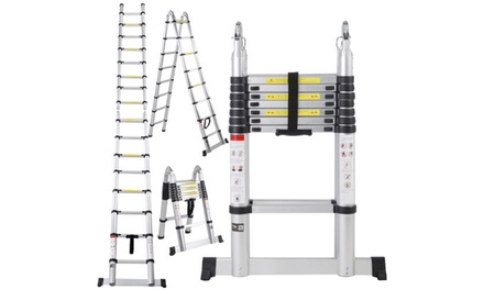 16.5FT Double-Sided Extension Ladder Aluminum Telescopic Step Ladder Was: $149.99 Now: $115.