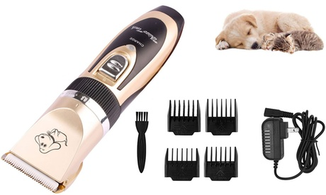 Low Noise Rechargeable Cordless Dog Shaver Clippers Hair Trimmer Set