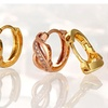 Infinity simulated diamond 18K gold/18K rose gold Huggie Earring