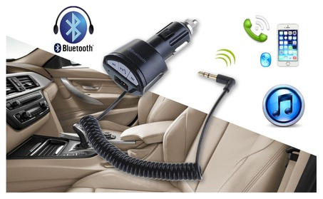 Car Bluetooth A2DP 3.5mm AUX Stereo Audio Receiver Adapter USB Charger f069a552-516e-414f-99c7-a68b7727b07b