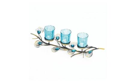 2 Peacock Inspired Candle Trios 559cdb4a-541f-4bd2-9703-3bec581cdd45