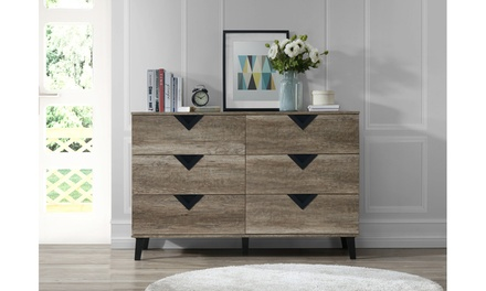 Wales Modern and Contemporary Light Brown Wood Bedroom Furniture