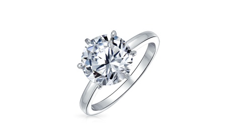 Bling Jewelry Silver Plated Round Cut Bridal CZ Ring Solitaire 2.75ct 2d042a5c-441b-4463-8e82-c854d161f5df