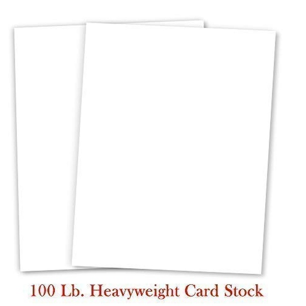 Heavyweight Solid Black Cardstock 8 1//2 x 11 50 Sheets