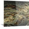 Metallic Fabric Pattern Digital Art Metal Wall Art 28x12