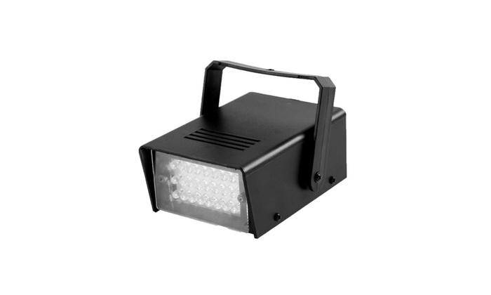 Mini Strobe Light White 24 Leds Flash Lighting For Kids Halloween