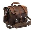 Men's Real Cow Leather Buckle Shoulder Briefcase Messenger Bag