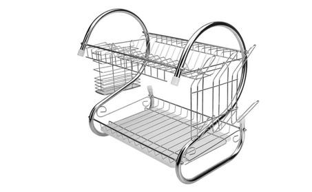 Kitchen Dish Cup Drying Rack Drainer Dryer Tray Cutlery Holder a6ab47f7-606f-4486-837b-f41ee41f3412