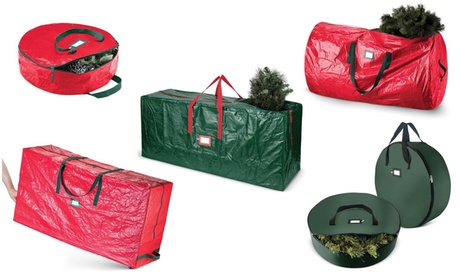 Christmas Tree, Wreath, & Holiday Decor Storage Bags: Multiple Sizes Available