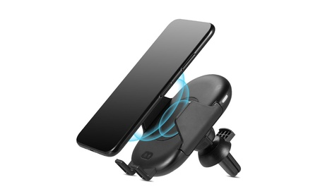 Wireless Charging Air Vent Car Mount For Cell Phones With Infrared Motion Sensor photo