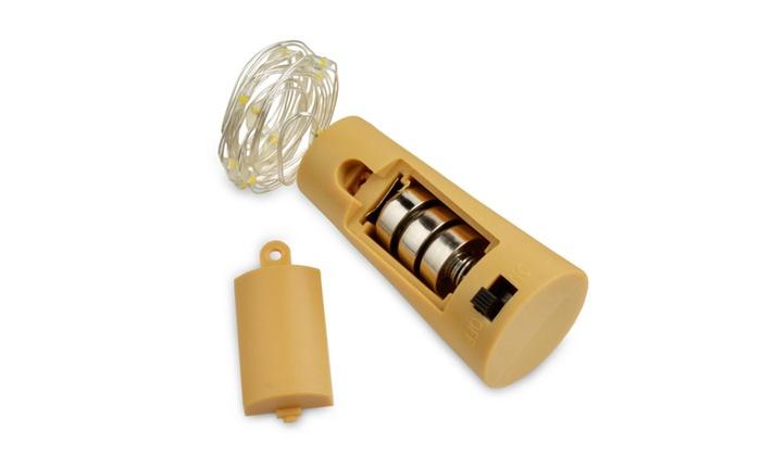 AGPtek Cork Shape Lighting 30 Inch Copper Wire Bottle Light White