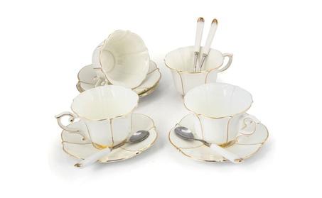 Porcelain Tea Cup and Saucer Coffee Cup Set White color TC-CBJ d0dd162f-56db-4bfd-a643-203e4d4d21ee
