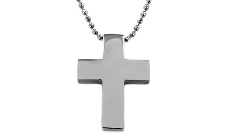 Stainless Steel Polished Cross Necklace 0eeb5d94-3ebf-48fe-97e5-0cafdbd60e1c