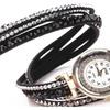 Crystal Leather Bracelet Wristwatch for Women