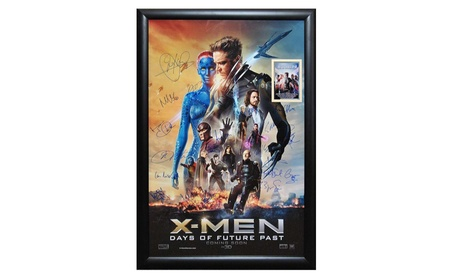 X-Men Days of Future Past-Signed by Cast Movie Poster 27x41 Wood Frame 45f347b1-c8e0-46eb-9ae5-481096be5b54