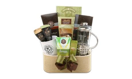 Coffee Bean & Tea Leaf Gift Basket with Coffee Press 1ab3aaa6-c583-4254-8306-10d7f3ae6ab1