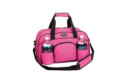 Womens Pink Tote Bag Sports Duffle Bag Workout Gym Bag Yoga Bag Carry