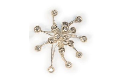 Fireworks Pearl Enhancer- Sterling Silver and Diamonds