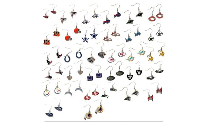 NFL Football Team Dangle Earrings