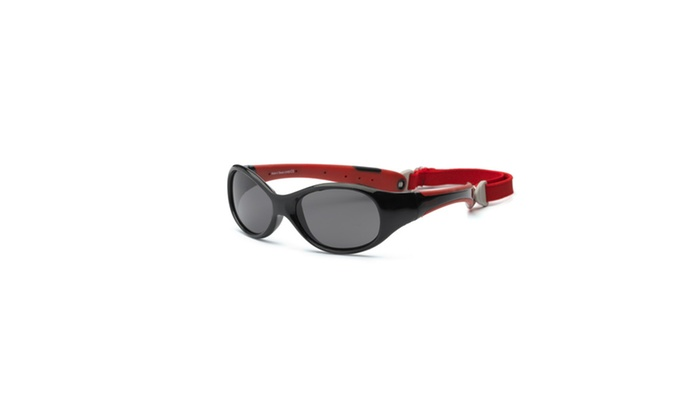 Real Kids Black-Red Flex Fit Removable Band  Smoke Lens 4plus