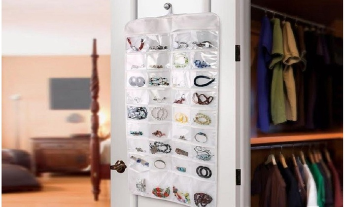 Up To 40 Off on DoubleSided 72 Pocket Hangin Groupon Goods
