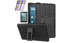 Protective Rugged Hard Case for Amazon All-New Fire 7 Tablet 7th Gen