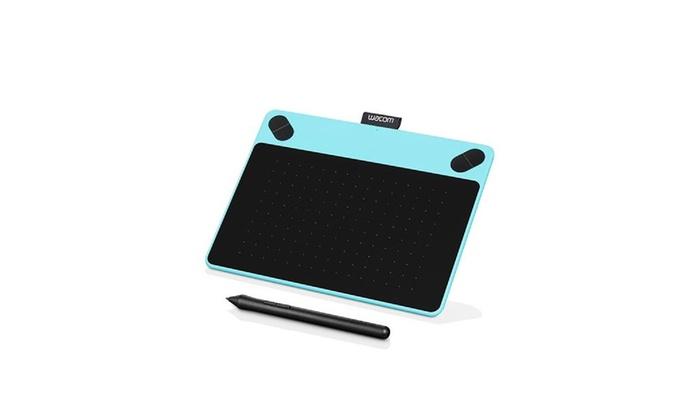 wacom intuos draw creative pen tablet small blue groupon