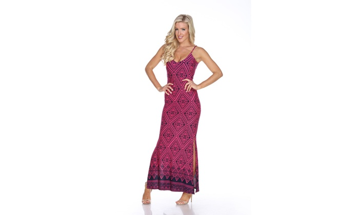 NavyFuchsia 'Nila' Maxi Dress