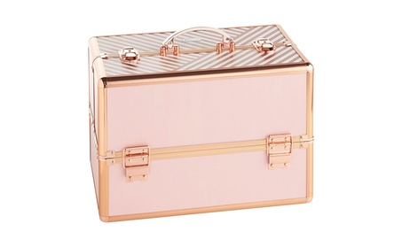 "Beautify Large Makeup Cosmetic Organizer Train Case 14"" Professional 2bc8874f-3715-4723-ad00-cb020519b4a6"