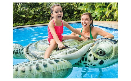 Intex Realistic Sea Turtle Inflatable Ride-On Float c47dbc29-c06d-474e-83d0-d9074cc00608