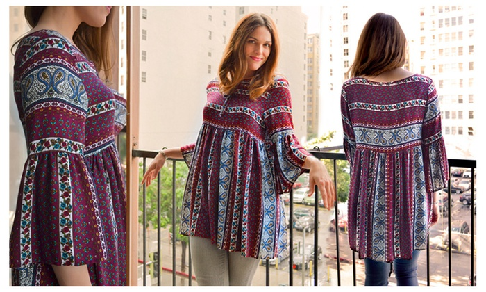 Lightweight Printed Tunic