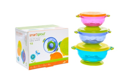Stay Put Suction Baby Bowls With Snap Tight Lids - BPA Free 2a7660de-0a31-4807-b231-ffa5ead2c60e