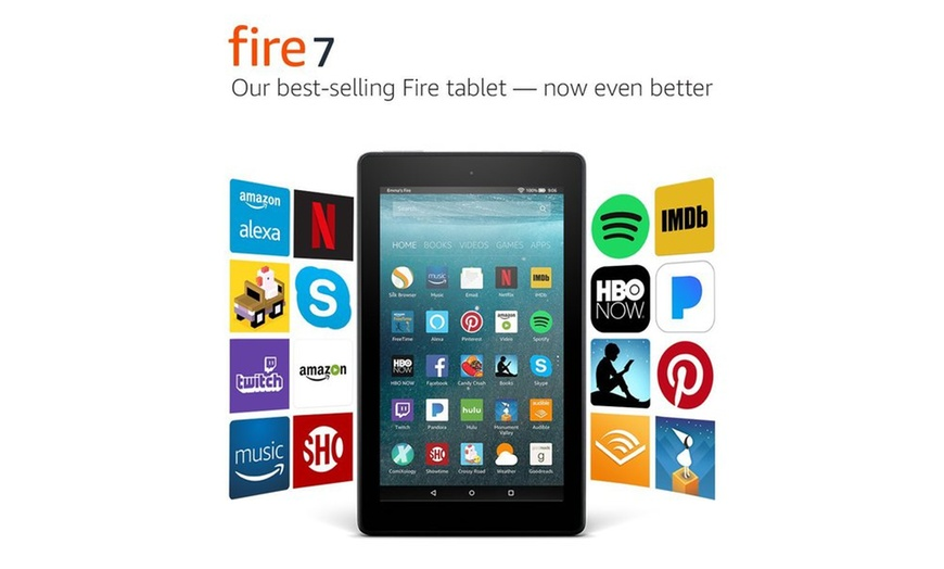 Amazon Fire 7 8gb Tablet With Alexa Black With Special Offers Groupon