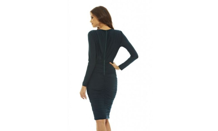 ... Dress AX Paris Women s V Front Slinky Midi ... a285ff5e1
