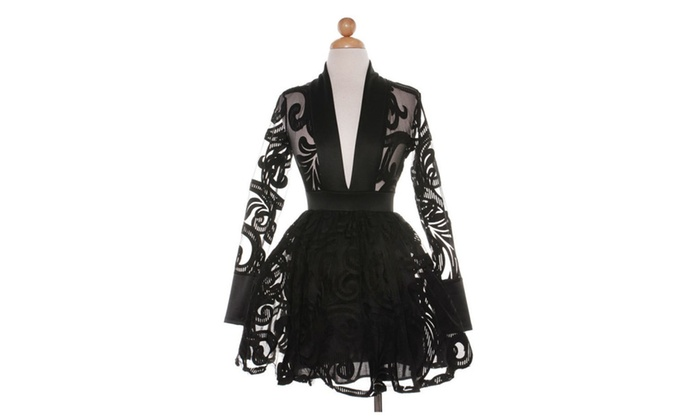 Black Flair Pixie dress