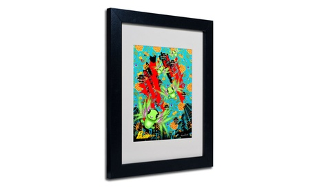 Miguel Paredes 'Pulgha Japan 2' Matted Black Framed Art d6f84642-066c-49da-9678-3c446a4a00e0