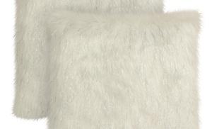 054b89ce468d2 Bryant Home Tina Faux Fur 2-Pack Decorative Pillow Set